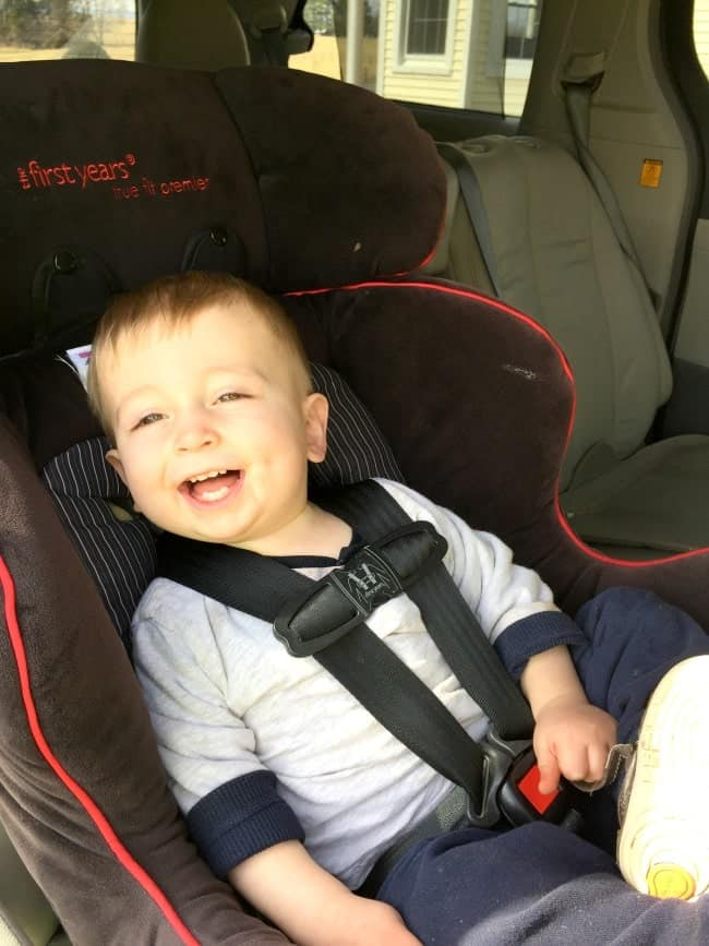 S in car seat