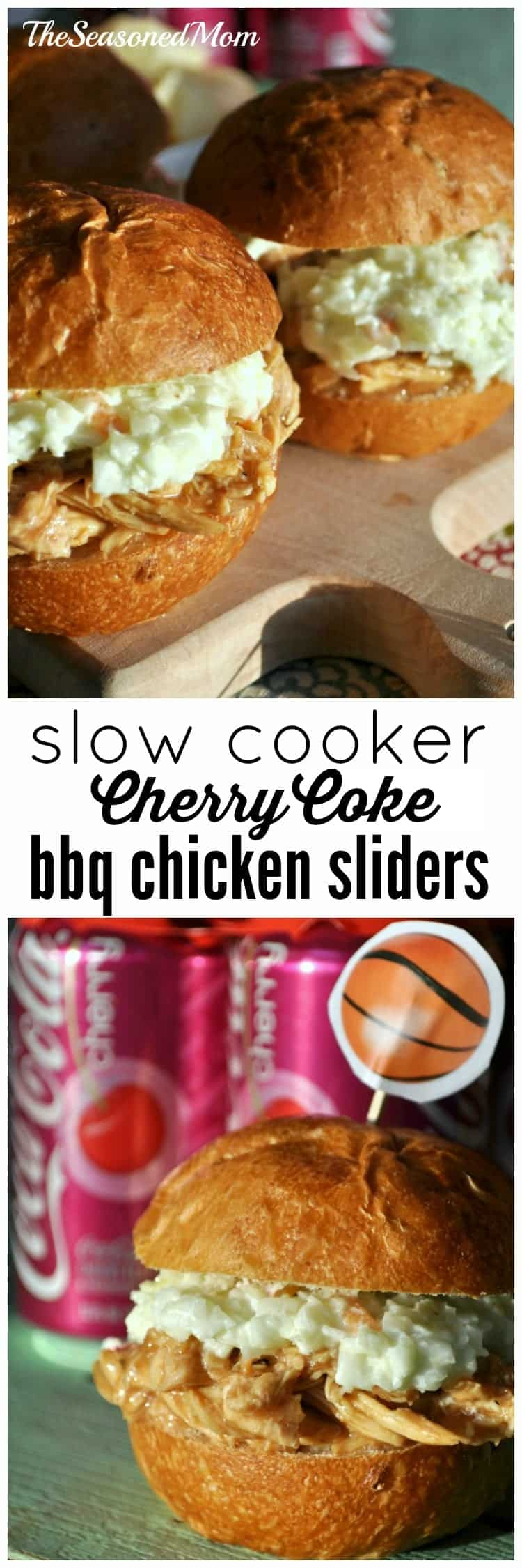 Slow Cooker Cherry Coke Barbecue Chicken Sliders - The Seasoned Mom