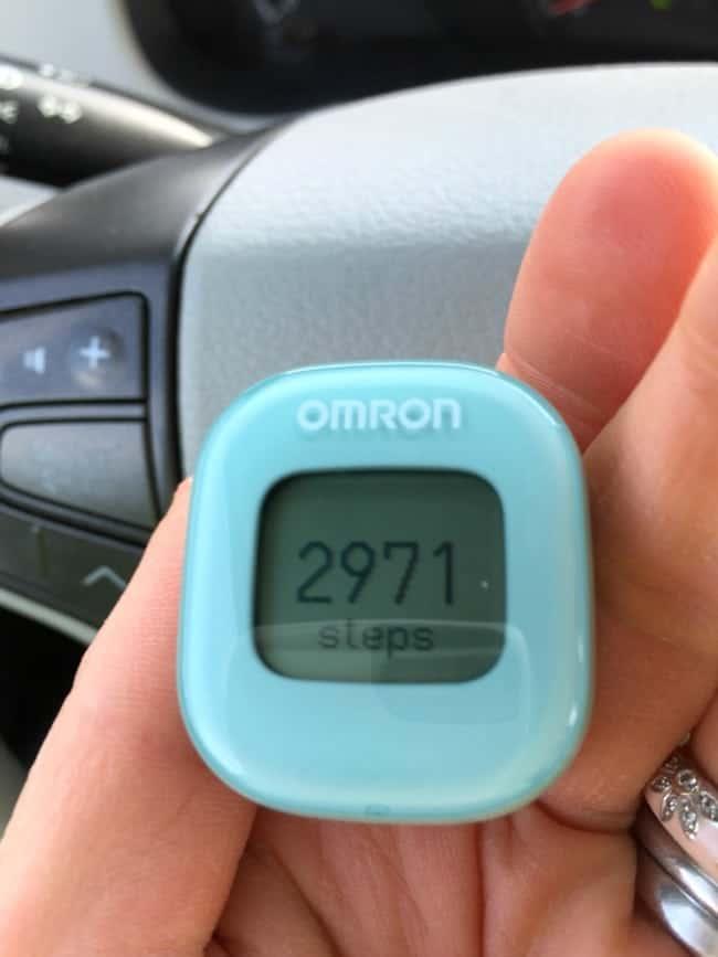 omron tracker before walk