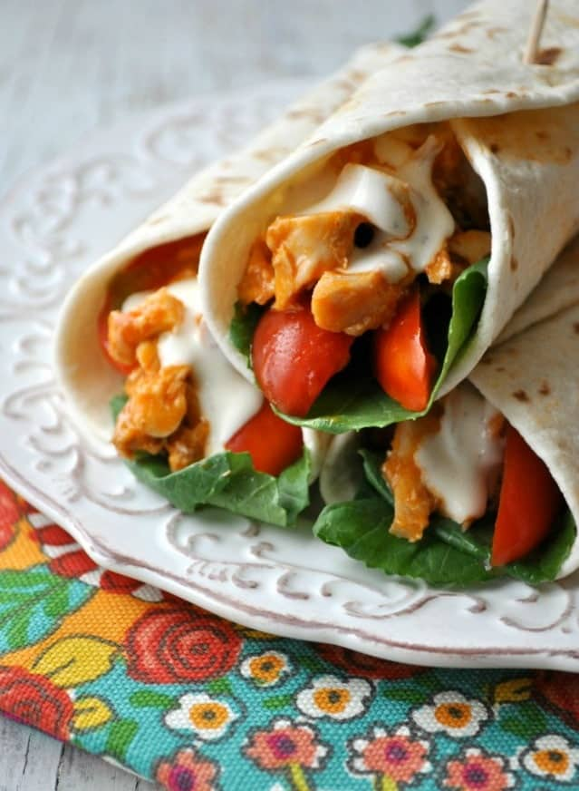 Buffalo Chicken Wraps 4