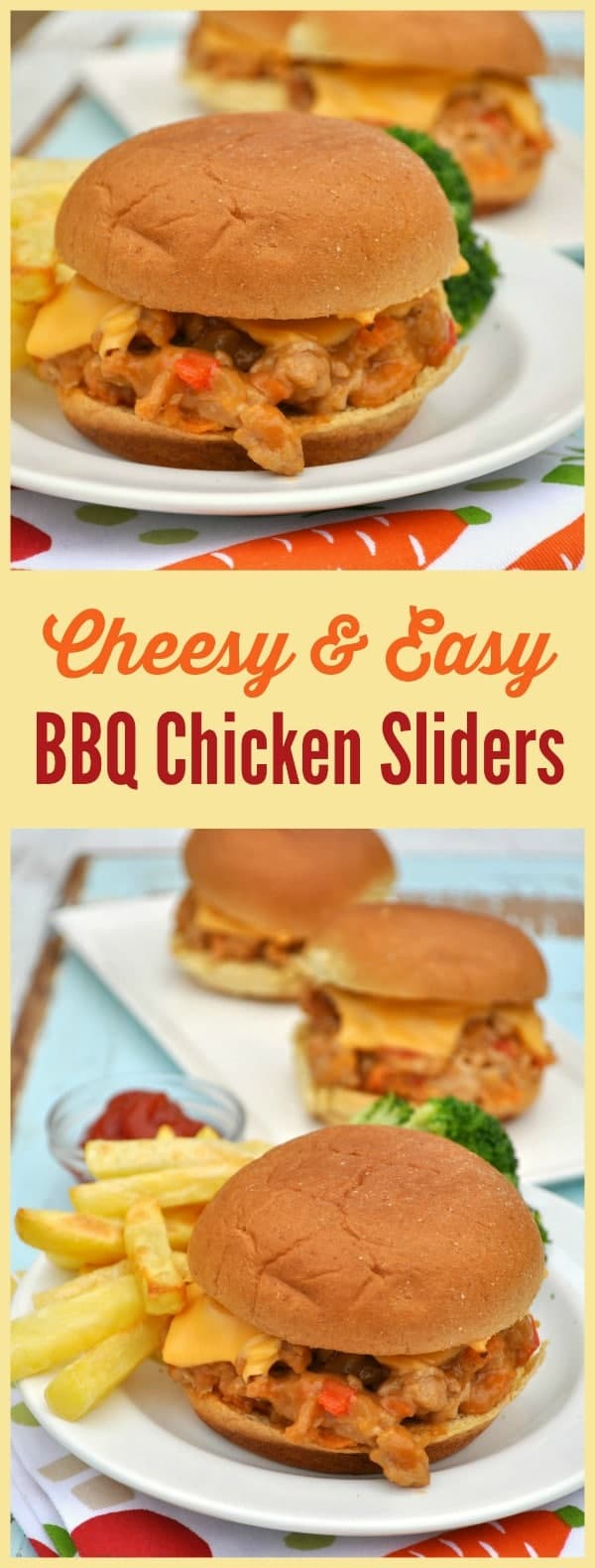 Cheesy & Easy Barbecue Chicken Sliders 1