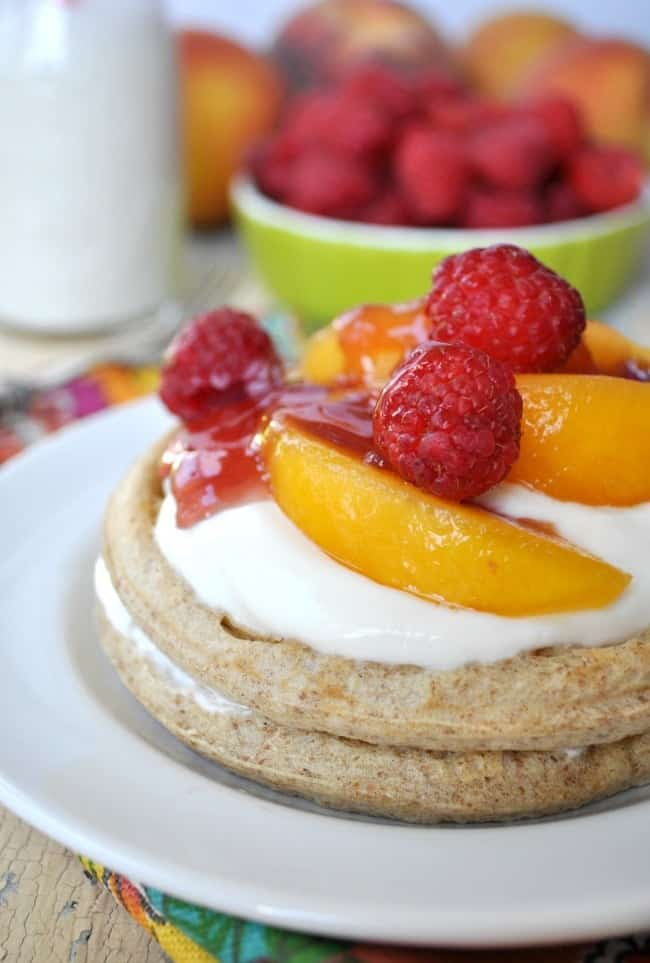 Healthy Peach Melba Breakfast Shortcakes 7
