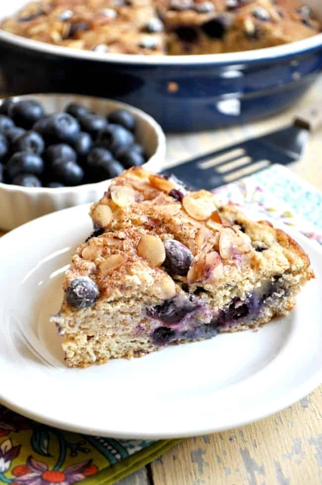 Lightened-Up Blueberry Coffee Cake - The Seasoned Mom