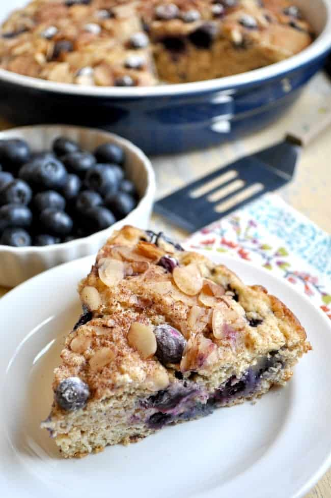 Lightened Up Blueberry Coffee Cake 6