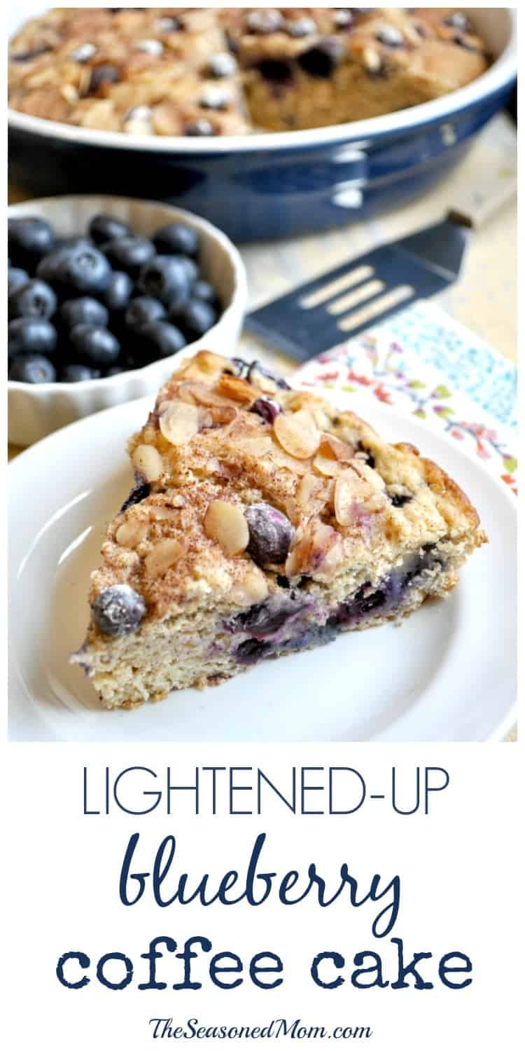 Lightened-Up Blueberry Coffee Cake - The Seasoned Mom