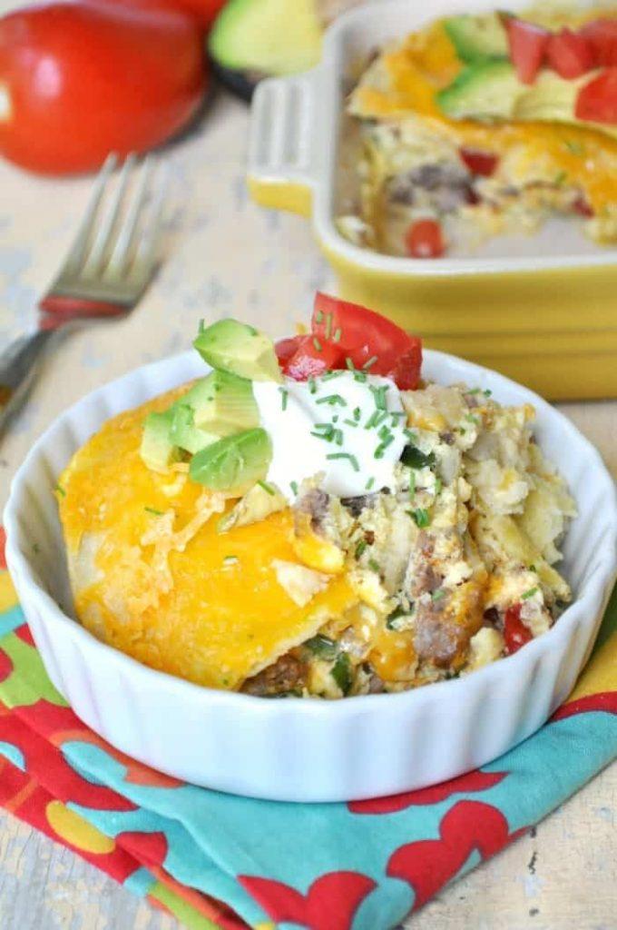 Skinny Mexican Breakfast Casserole