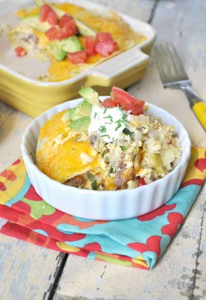 Mexican Breakfast Casserole 8