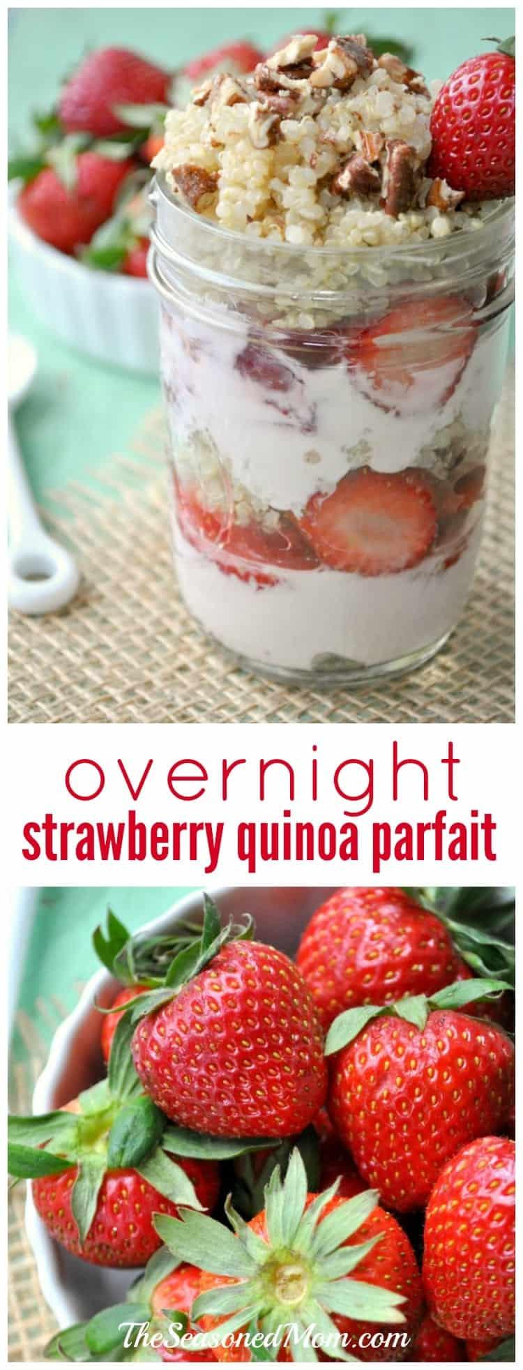 Overnight Strawberry Quinoa Parfait
