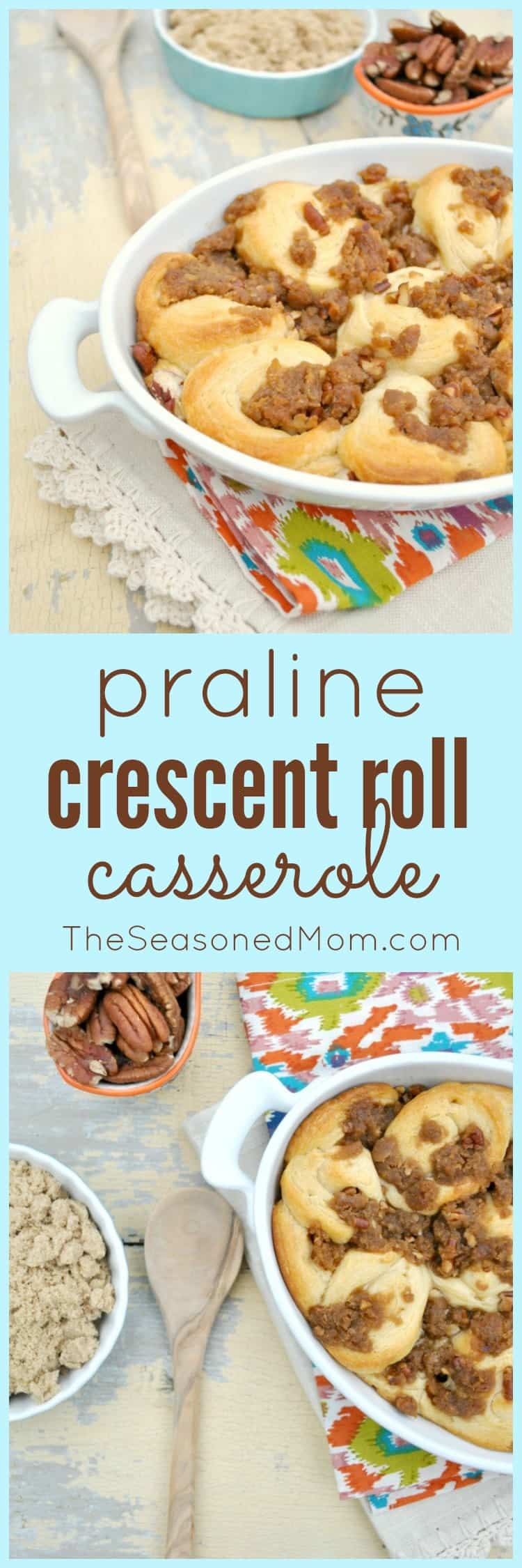 Praline Crescent Roll Casserole