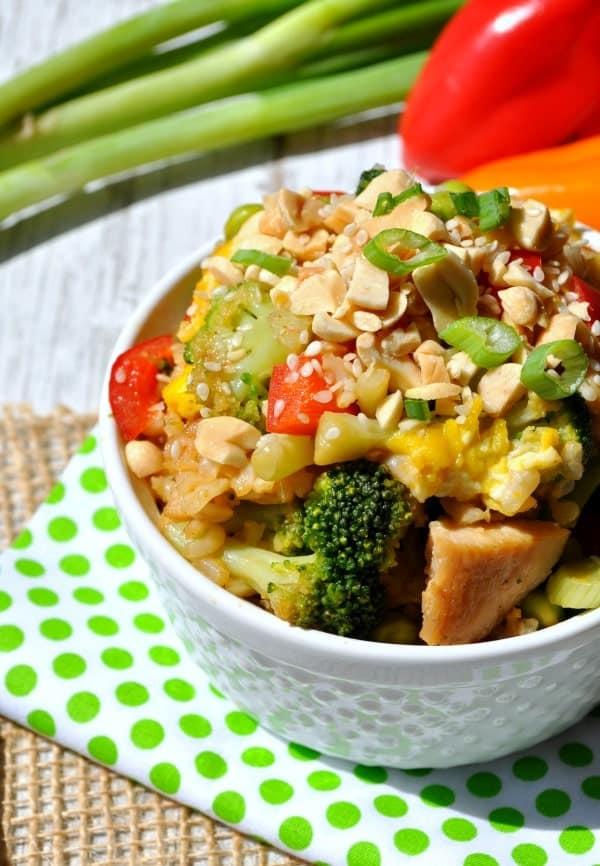 Thai Peanut Chicken Fried Rice 4