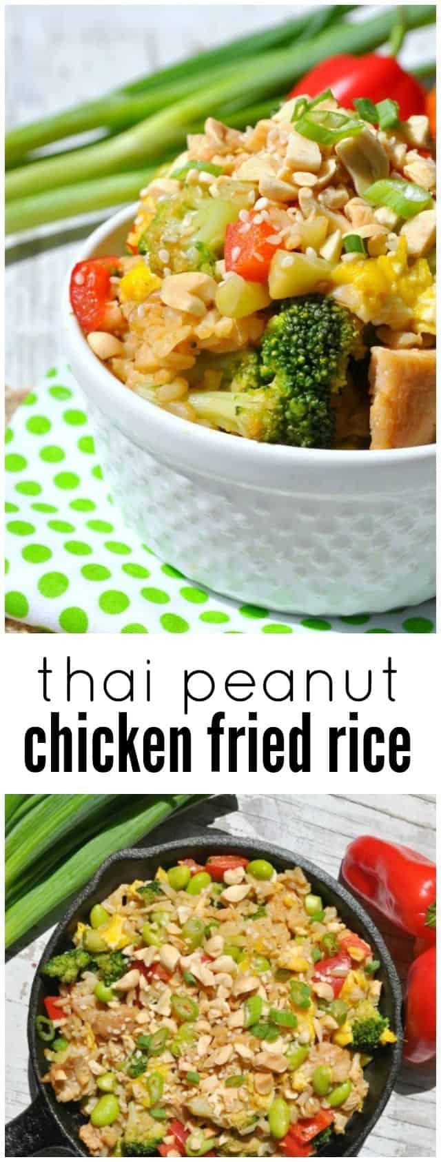 Thai Peanut Chicken Fried Rice