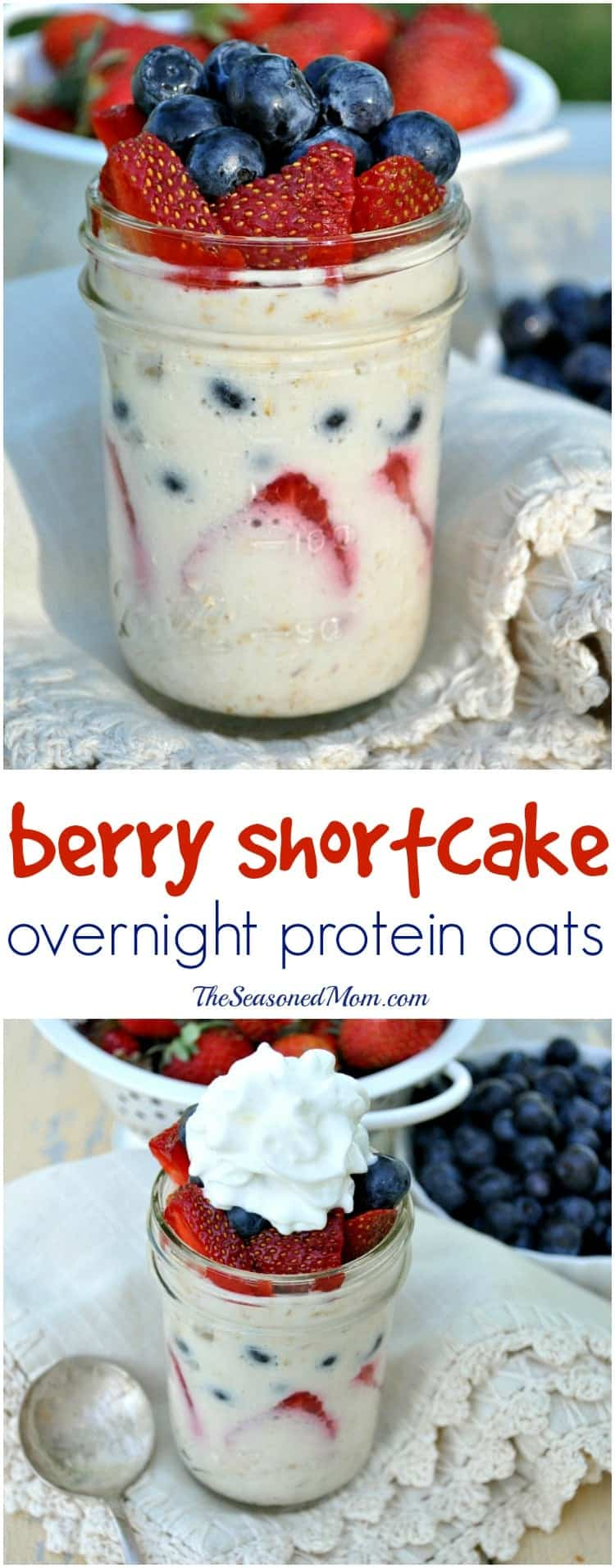 Berry Shortcake Overnight Protein Oats