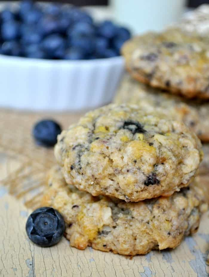 Blueberry Muffin Oatmeal Cookies 2