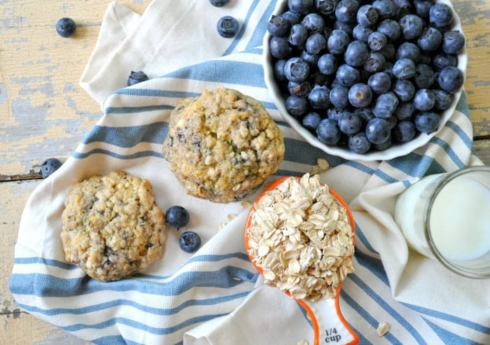 Blueberry Muffin Oatmeal Cookies 9