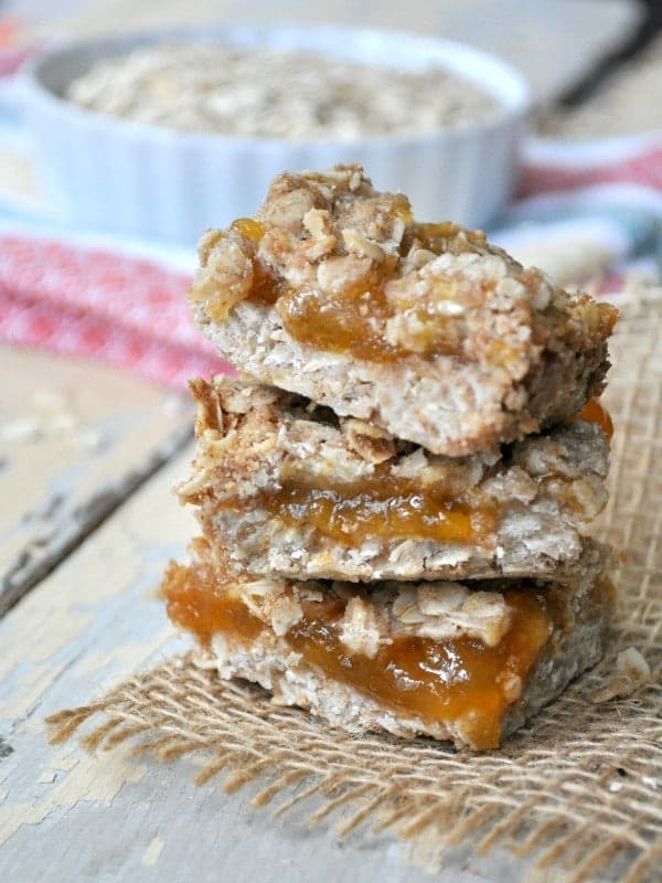 Healthy Peach Jam Bars 8