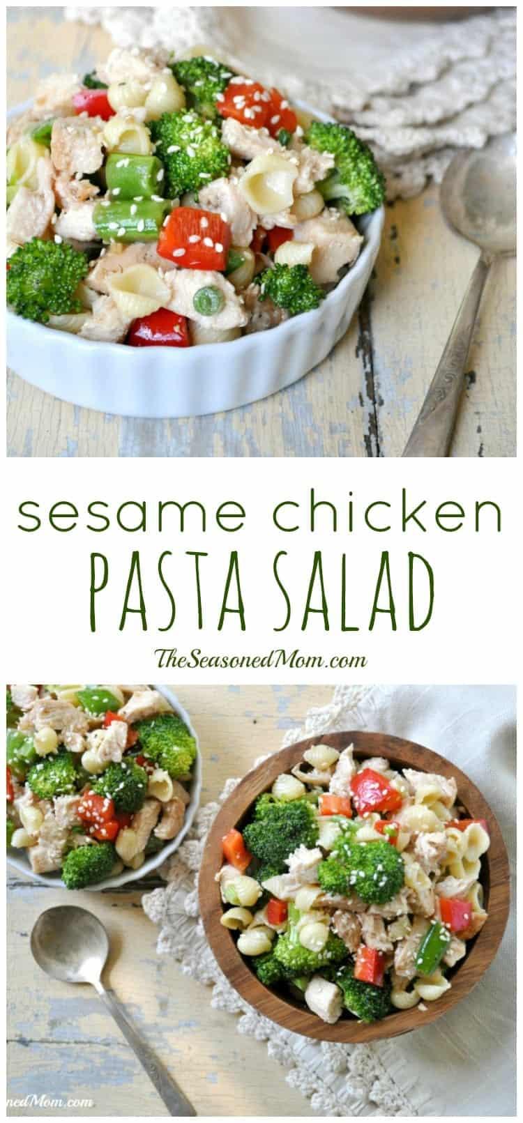 Sesame Chicken Pasta Salad