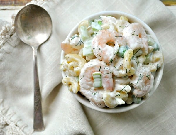 Small shrimp pasta salad recipe