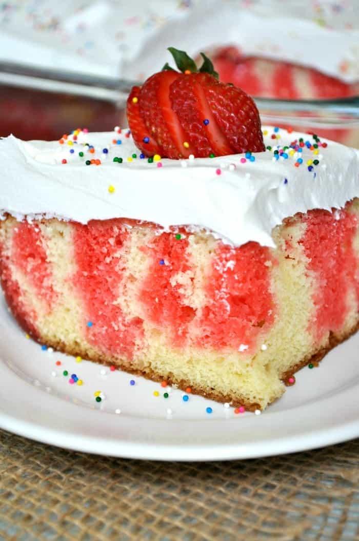 Strawberry Jello Poke Cake 4