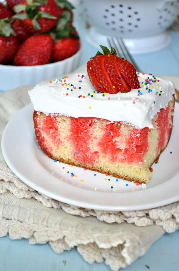 Strawberry Jello Poke Cake 7