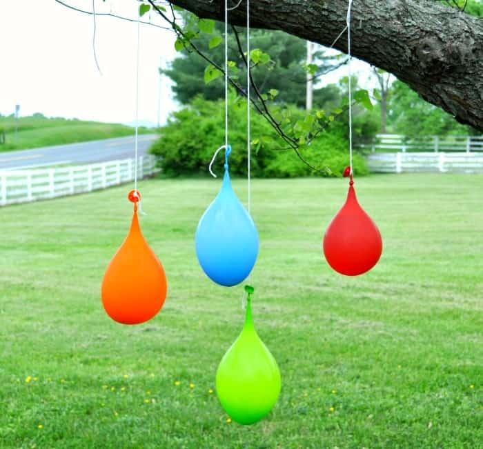 Water Balloon Pinatas Hanging