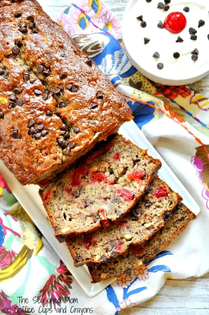 Healthy Banana Split Bread 7