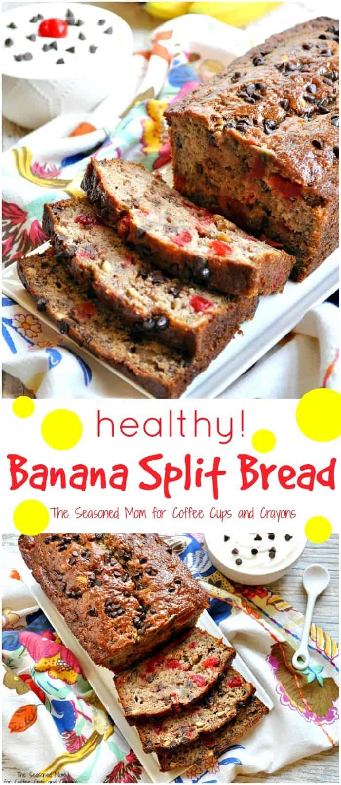 Healthy Banana Split Bread