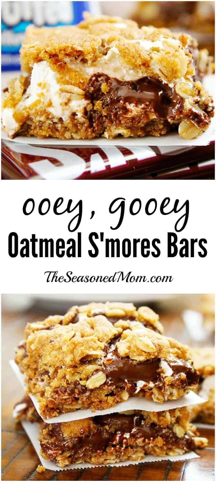 Ooey Gooey Oatmeal Smores Bars