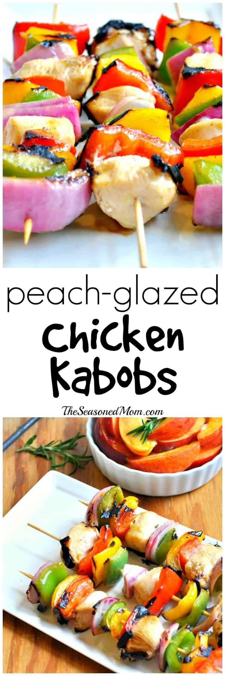 Peach Glazed Chicken Kabobs