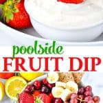 This 4-Ingredient Poolside Dip is an easy and healthy snack idea for kids!