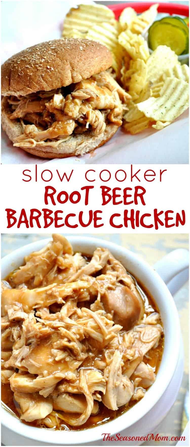 Slow Cooker Root Beer Barbecue Chicken