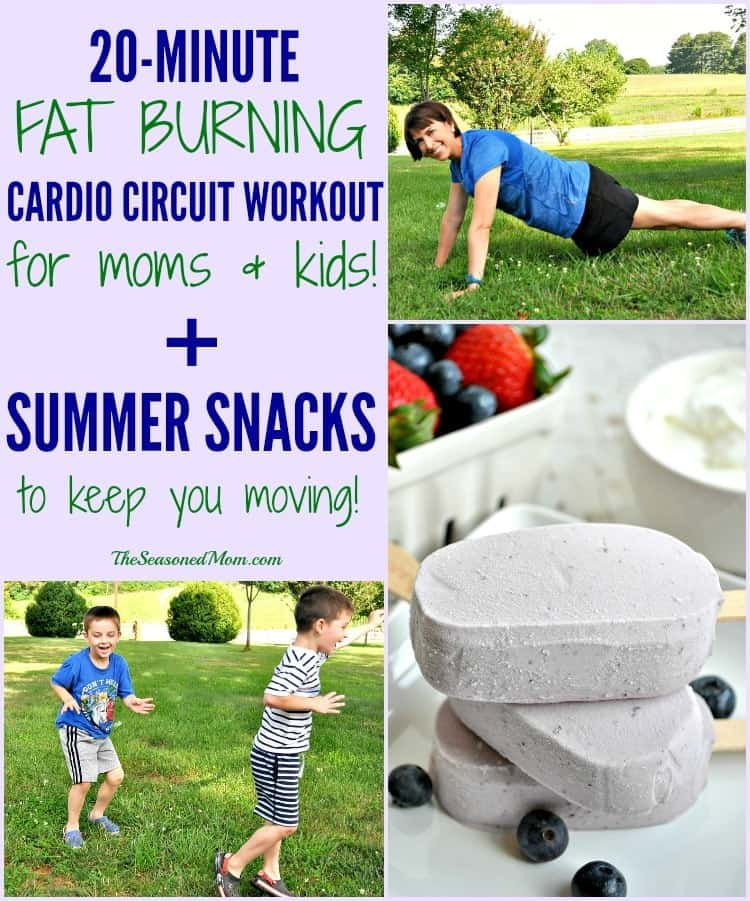 20 minute fat burning cardio circuit workout for moms and kids