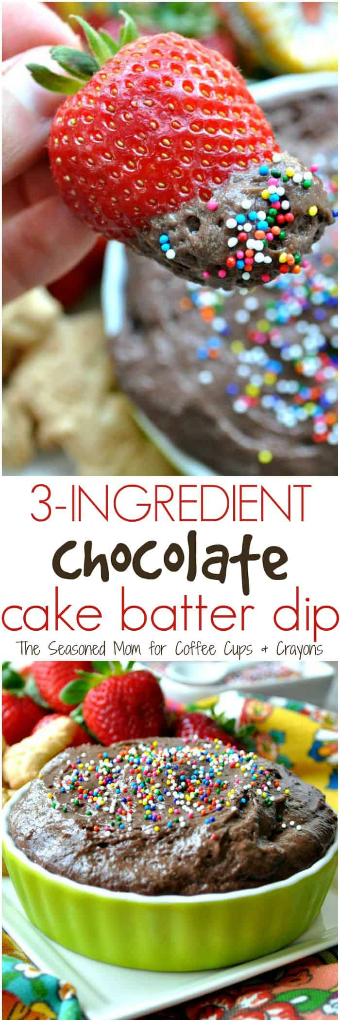 3 Ingredient Chocolate Cake Batter Dip