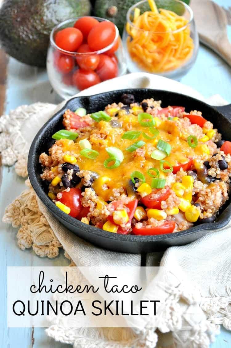 Chicken Taco Quinoa Skillet 4