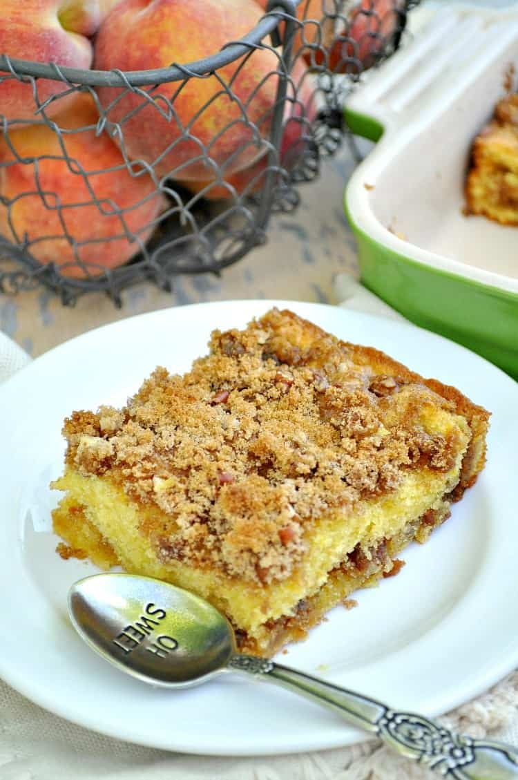 Peach And Blueberry Streusel Cake