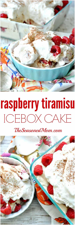 Raspberry Tiramisu Icebox Cake