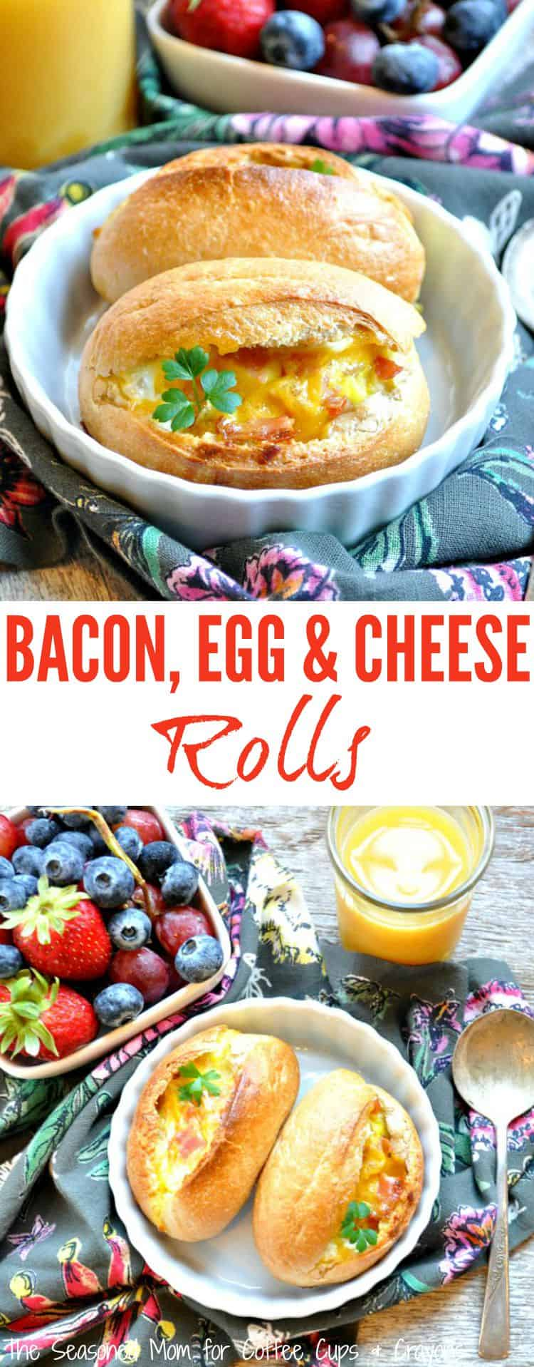 Bacon Egg and Cheese Rolls