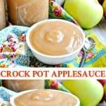 Long collage of Crock Pot Applesauce