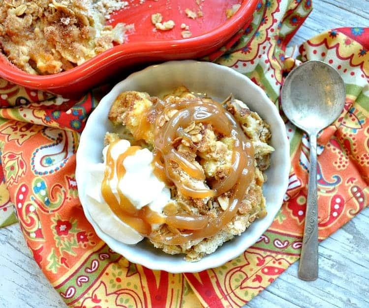 Dump and Bake Caramel Apple Crisp 7