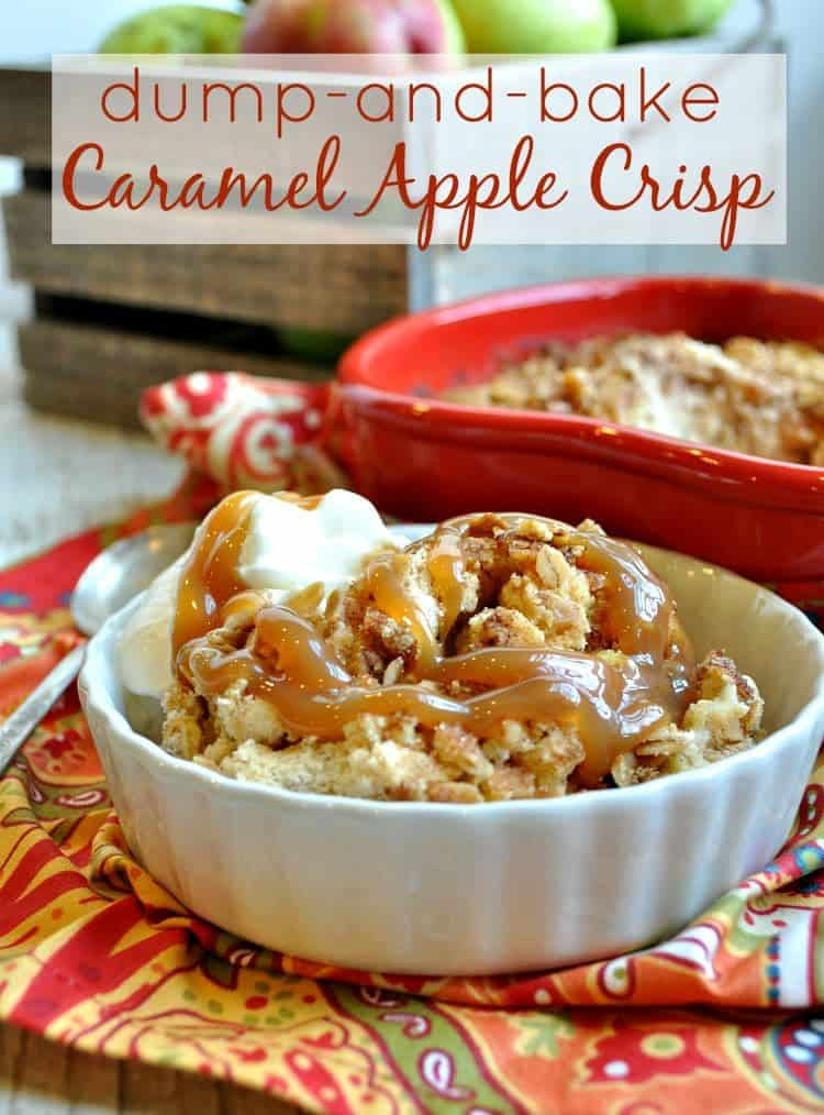 Dump and Bake Caramel Apple Crisp TEXT