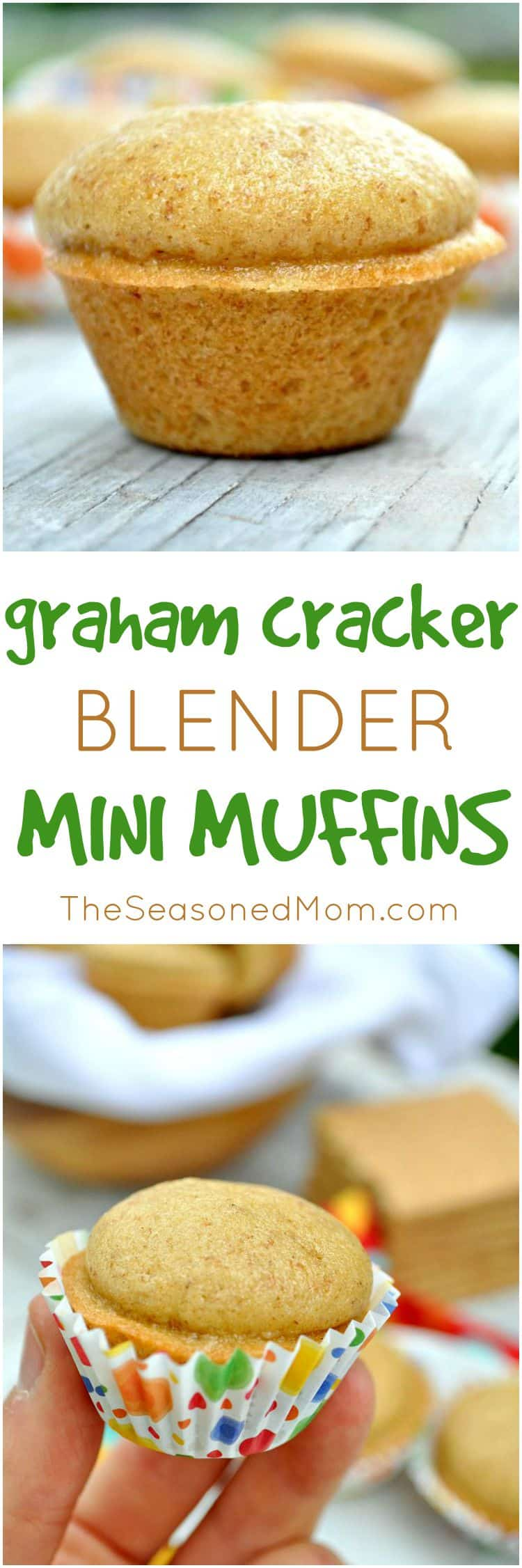 Graham Cracker Blender Mini Muffins