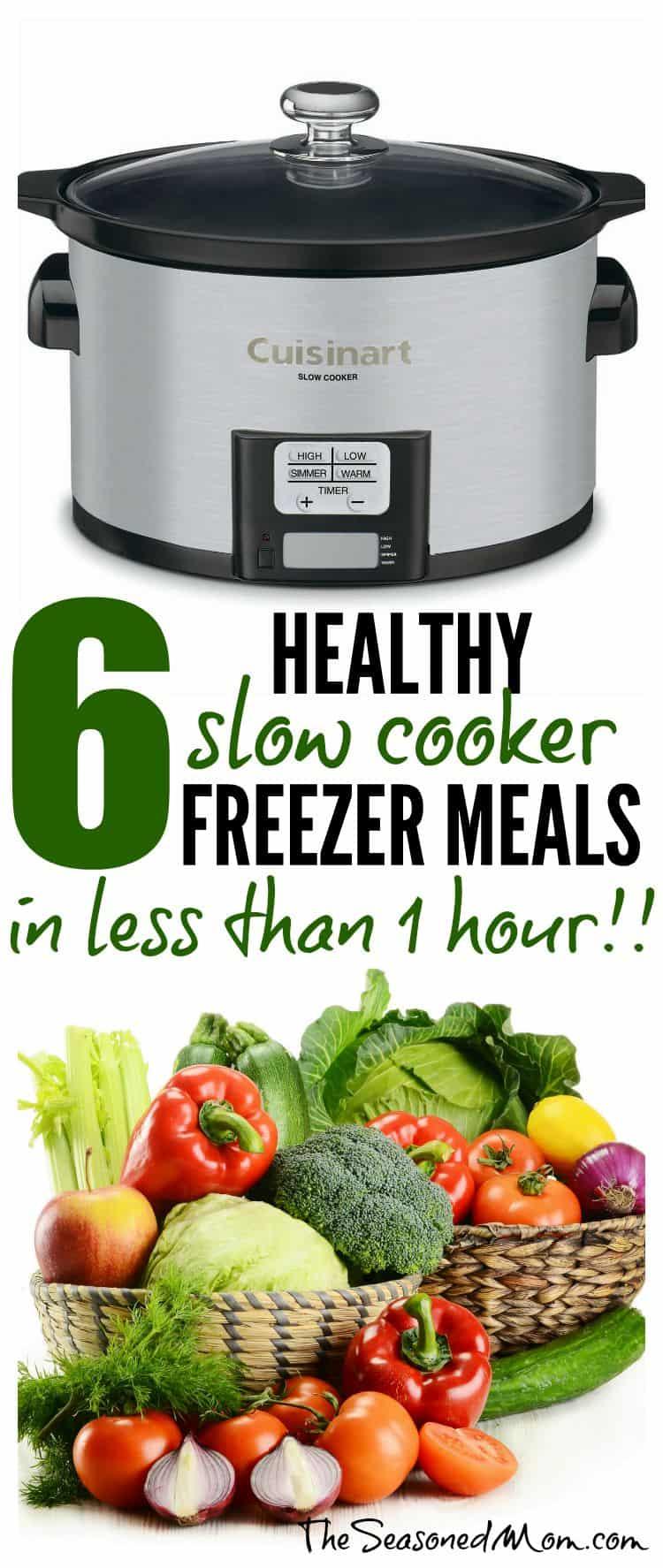 Healthy Slow Cooker Freezer Meals