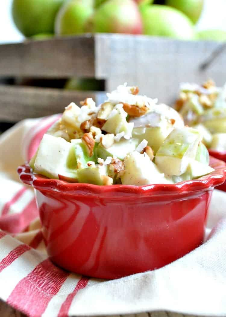 Light and Creamy Apple Salad 4