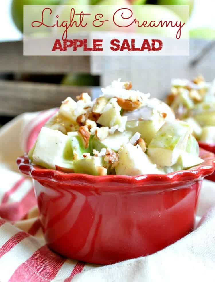 Light and Creamy Apple Salad TEXT