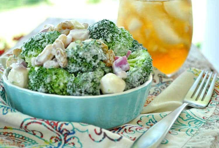 Lightened Up Broccoli Salad 8