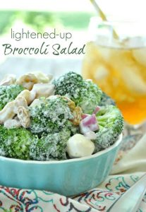 Lightened-Up Broccoli Salad - The Seasoned Mom