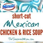 A collage image of Mexican Chicken And Rice Soup