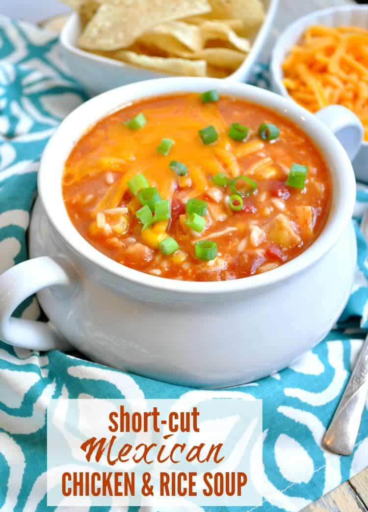 Shortcut Mexican Chicken and Rice Soup TEXT