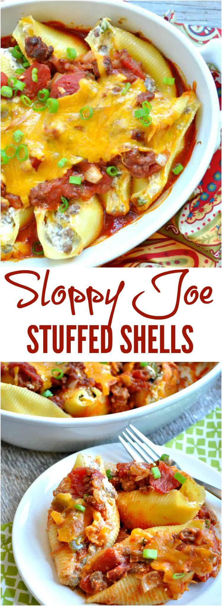 Sloppy Joe Stuffed Shells