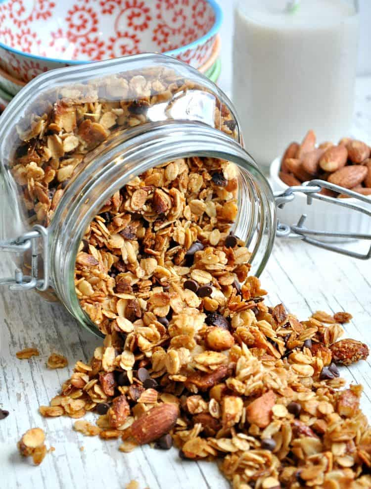 Slow Cooker Salted Caramel Almond Granola 12