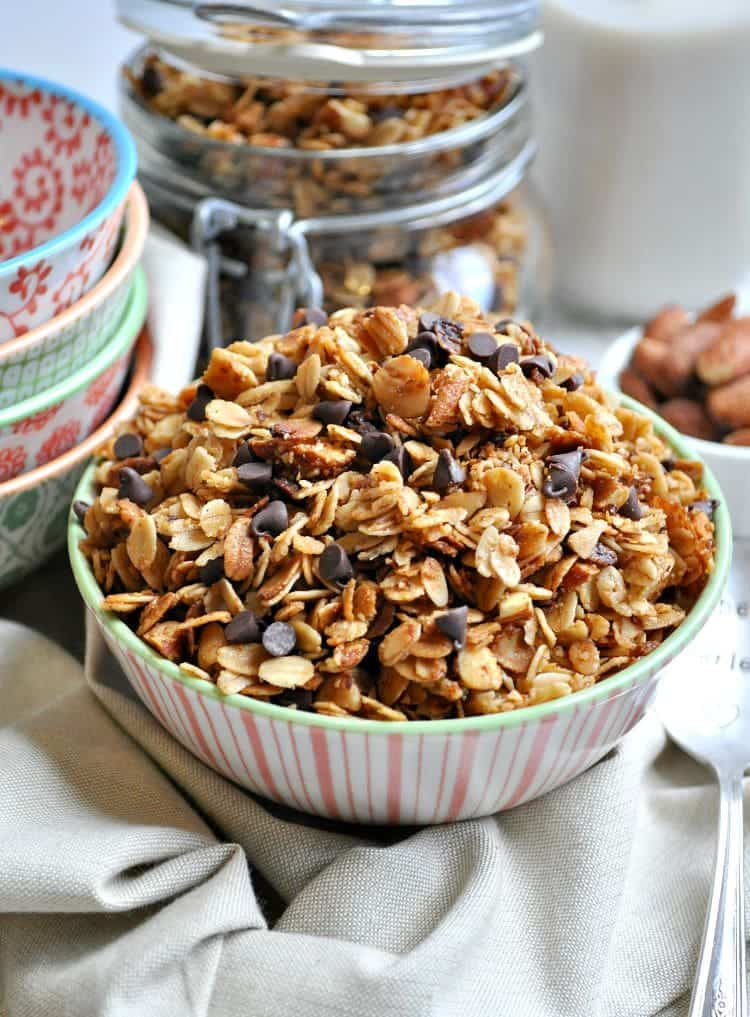Slow Cooker Salted Caramel Almond Granola 5